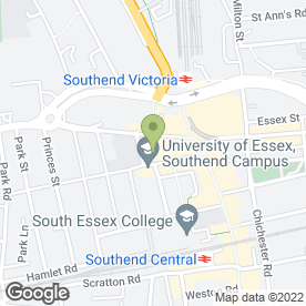 Map of Co-operative Bank plc in Southend-On-Sea, essex