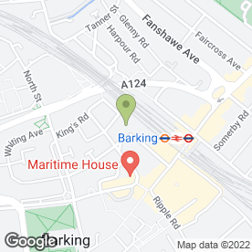 Map of British Red Cross First Aid Training in Barking, greater london