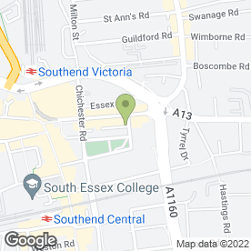 Map of Papa John's in Southend-On-Sea, essex