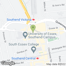 Map of Rileys Sports Bar in Southend-On-Sea, essex