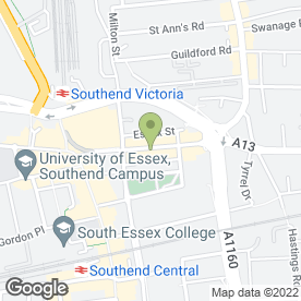 Map of Micky B Entertainments in Southend-On-Sea, essex