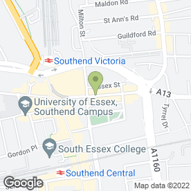 Map of KC's International in Southend-On-Sea, essex