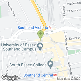 Map of Santander in Southend-On-Sea, essex