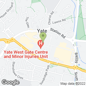 Map of West Walk Surgery in Yate, Bristol, avon