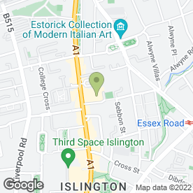 Map of ISLINGTON ASSEMBLY HALL in Islington, London, london