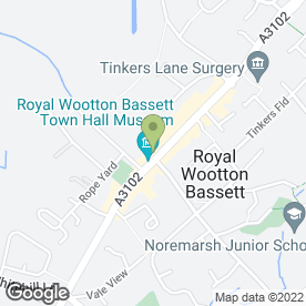 Map of Paul Vitti Residential in Wootton Bassett, Swindon, wiltshire