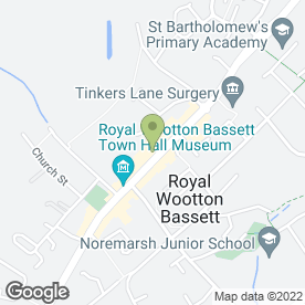 Map of DEACON in Wootton Bassett, Swindon, wiltshire