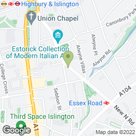 Map of The House Pub & Dining Room in Islington, London, london