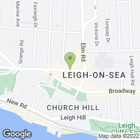 Map of BGA Architects in Leigh-On-Sea, essex