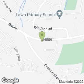Map of W Bristow in Swindon, wiltshire