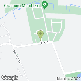 Map of South Essex Crematorium in Corbets Tey, Upminster, greater london