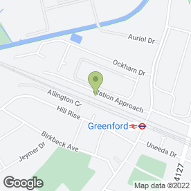 Map of P J Leonard Haulage Ltd in Greenford, middlesex