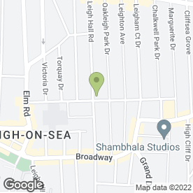 Map of R.C.H. HEATING & PLUMBING LTD in Leigh-On-Sea, essex
