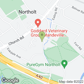 Map of Northolt Village Community Centre in Northolt, middlesex