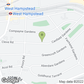 Map of Dawson House Hotel - Guest House in London, london