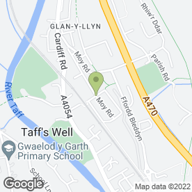 Map of 1st in Gear in Taffs Well, Cardiff, south glamorgan
