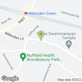 Map of Palmers Lodge Hillspring At Willesden Green in LONDON, london