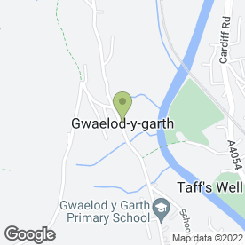Map of Garth Tyre & Exhaust Services in Gwaelod-Y-Garth, Cardiff, south glamorgan
