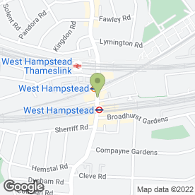 Map of James Nicholas West Hampstead in London, london