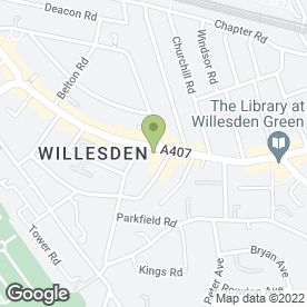 Map of Willesden Green Arcitectural Salvage in London, london