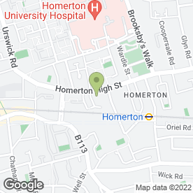 Map of Bloomers Day Nursery in London, london