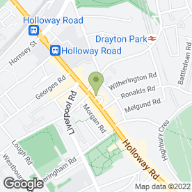 Map of Beautiful Star in Holloway, London, london