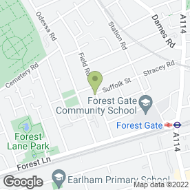 Map of PETER LEWIS, FOREST GATE in London, london
