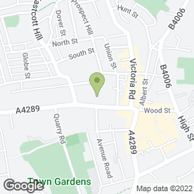 Map of Bath Road Methodist Church in Swindon, wiltshire