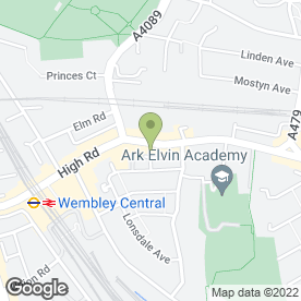 Map of Catwalk Beauty Clinic in Wembley, middlesex