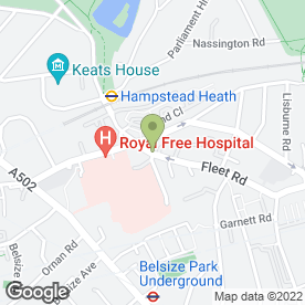Map of The Pharm in Hampstead, London, london