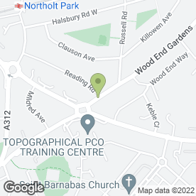 Map of Wood End Lane Stores in Northolt, middlesex