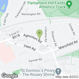 Map of Monicas Caterers in Hampstead, London, london