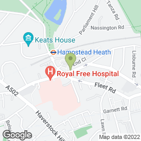 Map of Hampstead Chiropody in London, london