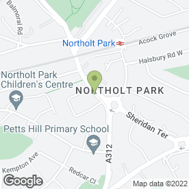 Map of D Dawes Electrician in Northolt, middlesex