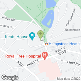 Map of Hampstead Heath P.O in London, london