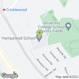 Map of Hampstead School in London, london