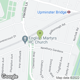 Map of I Door in Upminster, greater london