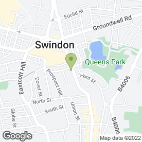 Map of Aspen Waite in Swindon, wiltshire
