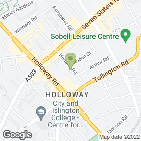 Map of Wm Morrison Supermarkets plc in Holloway, London, london
