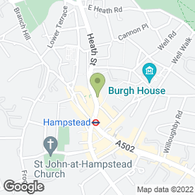 Map of PizzaExpress in Hampstead, London, london