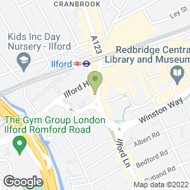 Map of Calabash Caribbean Restaurant in Ilford, greater london