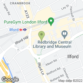 Map of Golden Curry in Ilford, greater london