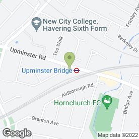Map of Upminster Minicabs in Hornchurch, greater london