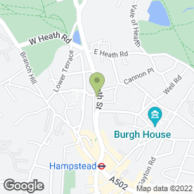 Map of La Gaffe in Hampstead, London, london