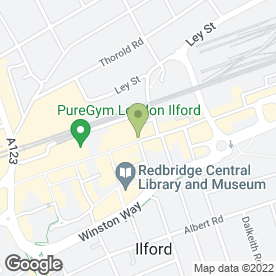 Map of Greggs in Ilford, greater london