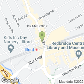Map of Ilford Dental Centre in Essex, greater london
