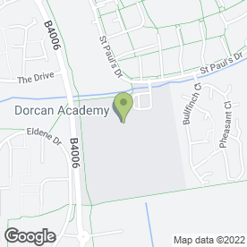 Map of Dorcan Academy in Dorcan, Swindon, wiltshire