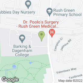Map of Barking & Dagenham College in Romford, greater london
