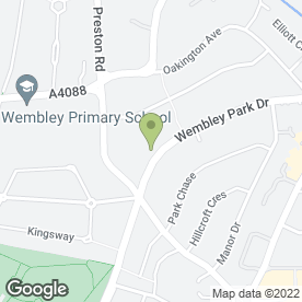 Map of Brazilian Keratin Treatment in Wembley, middlesex