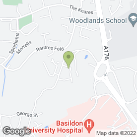 Map of South Essex College of Further & Higher Education in Basildon, essex